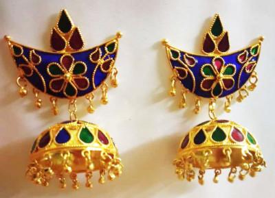 Assamese Traditional Jonbiri earrings For Women(#1534)-gallery-0