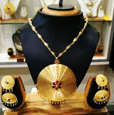 Assamese Traditional Japi Jewellery Set for Women(#1540)-gallery-0