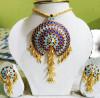 Designer embellished Japi Jewellery Set for Women(#1545) - getkraft.com