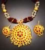 Red Traditional Japi Jewelry for Women(#1547) - getkraft.com