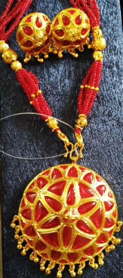Assamese Traditional large sized Japi Jewellery for Women(#1557)-gallery-0