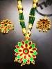 Assamese Thuka Phool studded stone Golden Jewelry for Women(#1561) - getkraft.com