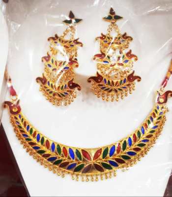 Embellished Jonbiri Jewellery Set for Women(#1578)-gallery-0
