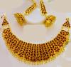 Axomia Large sized Golden Jonbiri Necklace set for Women(#1580) - getkraft.com