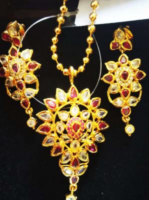 Doogdoogi Golden Necklace and earring piece For Women(#1587)-gallery-0