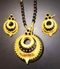 Golden Kerumoni Necklace Set with Black stones for Women(#1589) - getkraft.com