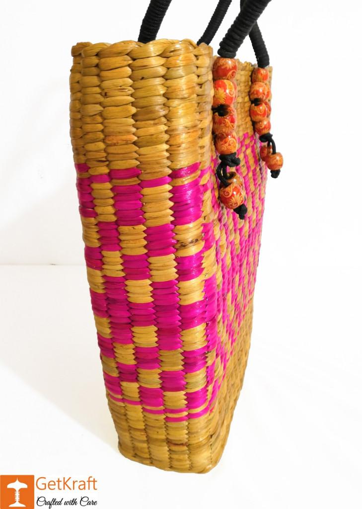 Natural Straw Handbag BG028(#159)-gallery-1