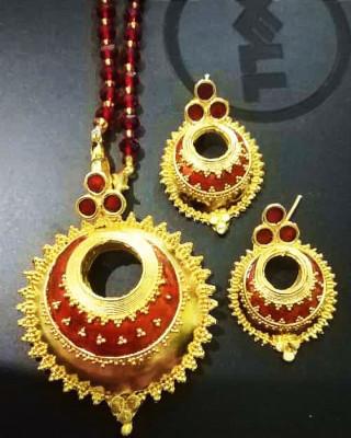 Gorgeous Red Kerumoni Jewellery Set for Women(#1590)-gallery-0
