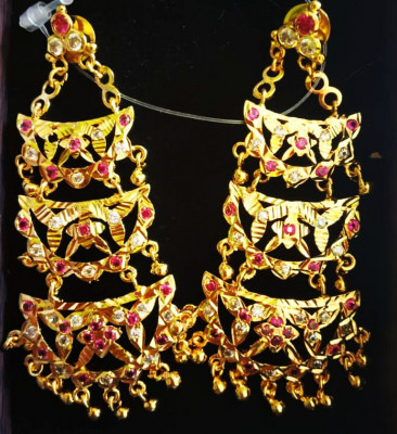 Assamese Traditional Kerumoni Earrings for Women(#1593)-gallery-0