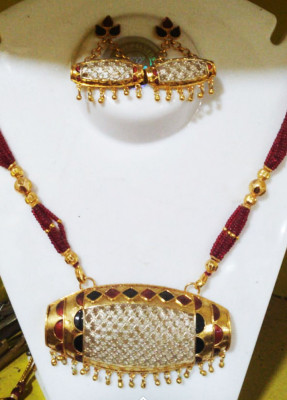 Elegant Dholbiri Necklace set for Women(#1599)-gallery-0
