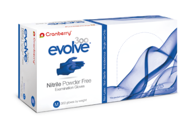 Cranberry Evolve 300 Blue Nitrile Powder Free Examination Gloves(#1650)-gallery-0