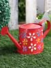 Hand Colored Round Metal Watering Can- Gardening Tool(#1659) - getkraft.com