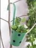 5 inch (13 cm) Polka Railing Round Metal Planter (Green)(#1677) - getkraft.com