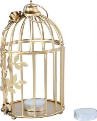 Creative Golden Floral Vine Birdcage for Home Decor(#1691)-gallery-0