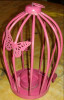 Pink Butterfly Bird cage Candle Holder- Home Decor(#1693) - getkraft.com