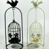 Creative Bird cage Candle Holder Stand- White Black(#1694) - getkraft.com