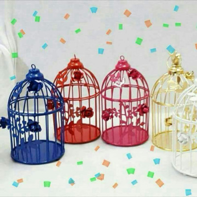 Decorative Multicolored Floral Vine Bird cage- Pack of 5(#1695)-gallery-0