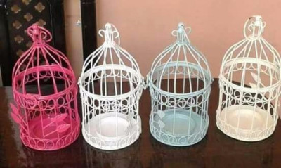 Multi coloured Decorative Bird cage Candle Holder Centerpieces(#1696)-gallery-0