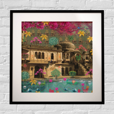 Beautiful Rajasthani Haveli Framed Art Print(#1716)-gallery-0