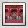 Pink Royal Door Design Framed Art Print(#1719) - getkraft.com