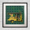 Yellow Auto Rickshaw Framed Art Print(#1725) - getkraft.com