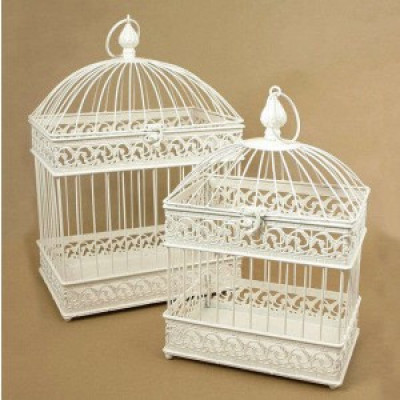 Rectangular base Elegant Bird cage(#1727)-gallery-0