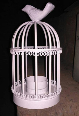 White Decorative Candle Holder Bird cage(#1730)-gallery-0