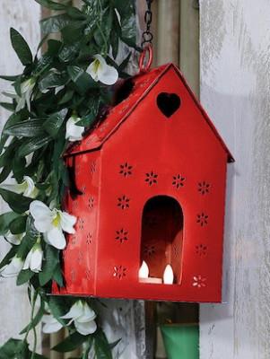 Decorative House shaped Candle Diya Holder Diwali Gift(#1734)-gallery-0
