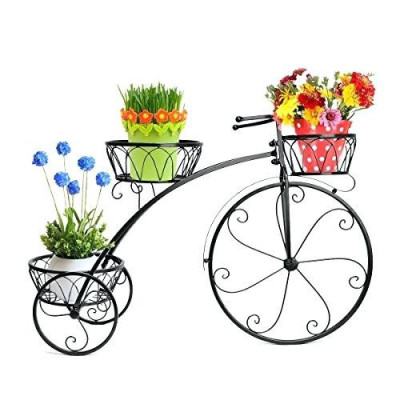 Metal Cycle Planter Stand - 3 shelves(#1741)-gallery-0