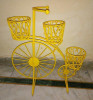 Yellow Cycle Style Planter Stand with 3 shelves(#1742) - getkraft.com