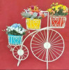 Simple White Cycle Style Planter Stand(#1743) - getkraft.com