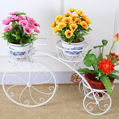 Floral Style Cycle Planter Stand(#1744)-gallery-0