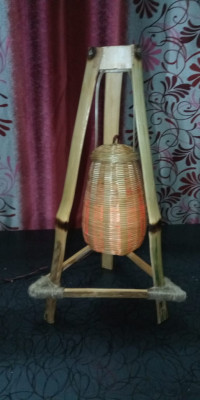 Hand Made Bamboo Table Lamp(#1748)-gallery-0