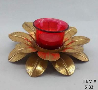 Lotus shaped Tealight Candle Holder Diwali Decor(#1757)-gallery-0