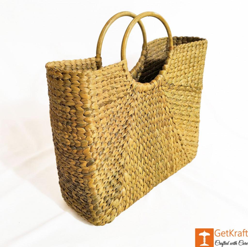 Natural Straw Handbag BG051(#178)-gallery-1