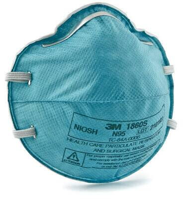 3M 1860 Respirator and Surgical Mask Health Care Particulate(#1782)-gallery-0
