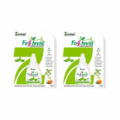 Zindagi Stevia Liquid Drops(FosStevia) - 100 Natural Sugar-Free - Stevia Tabletop Sweetener (Pack of 2)(#1788)-gallery-0