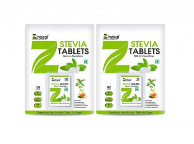 Zindagi Stevia Tablets - Stevia Sugar-Free Tablets - Zero Calorie Stevia Sweetener (200 Tablets)(#1791)-gallery-0