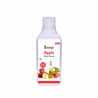 Zindagi Apple Cider Vinegar - Raw Unfiltered And Undiluted - 100 Pure Vinegar - 500 ml(#1793)-gallery-0