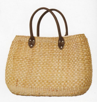 Natural Straw Handbag with Leather Belts for Women(#181)-gallery-0