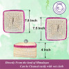 Avnii Organics Eco Friendly Hand Woven Moonj GrassSea Grass Storage Basket With Beautiful Lid Multipurpose use like Picnic BasketFruit Basket(#1899)-thumb-2