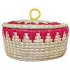 Avnii Organics Beautiful Hand Woven Round Shaped MoonjSea Grass Basket with Lid Eco-Friendly Can Be Used for Chapatti MultipurposeVery Useful(#1900) - getkraft.com