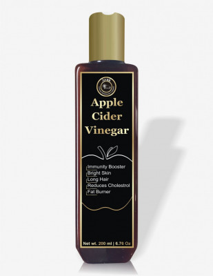 100 Pure Organics Apple Cider Vinegar For Hair Growth Bright Skin Rich in Enzymes Potassium Immunity Booster From The Land Of Himalayas - 200ml(#1910)-gallery-0