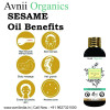 Avnii Organics Sesame Pure Cold Pressed Oil For Hair Body Skin Care Glowing Skin Massage100 ml(#1912)-thumb-3