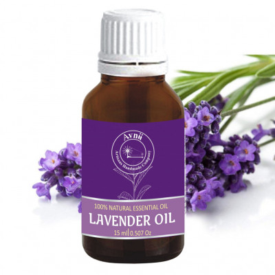 Avnii Organics Lavender Oil 100 Natural Therapeutic Grade Ideal for Healthy Skin Hair (15ml)(#1914)-gallery-0