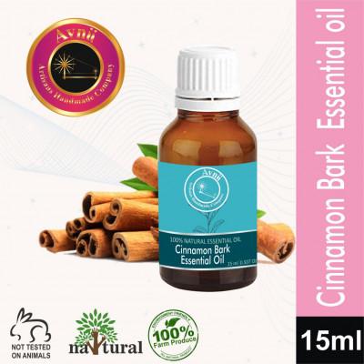 Avnii Organics Pure Cinnamon Bark Essential Oil for Hair Skin Care and Acne15ml(#1915)-gallery-0