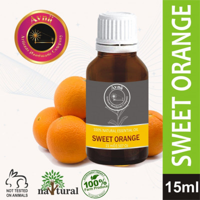 Avnii Organics Orange Essential Oil 100 Natural Pure for Skin Acne Lips and Diffuser15 ml(#1918)-gallery-0
