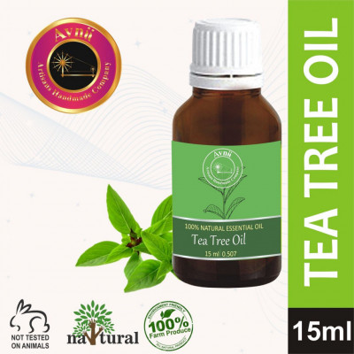 Avnii Organics Natural Therapeutic Grade Tea Tree Essential Oil for Skin Acne Hair -15 ml(#1919)-gallery-0