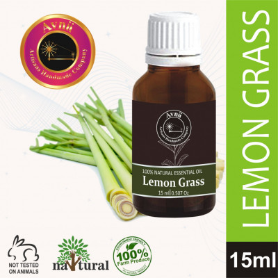 Avnii Organics Lemon Grass Pure and Natural Essential Oil for Reduces Acne and Blemish(15 ml)(#1921)-gallery-0