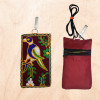 Avnii Organics Multi color Mobile Pouch (Mobile Cover) Rajasthani Style beautiful hand crafted Velvet cover for Women(#1922)-thumb-2